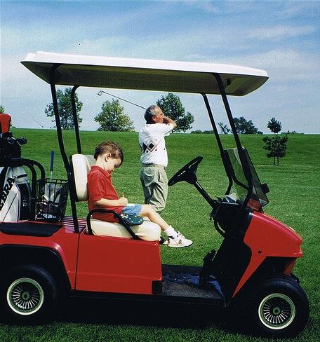 Grandad-and-Everett-golfing