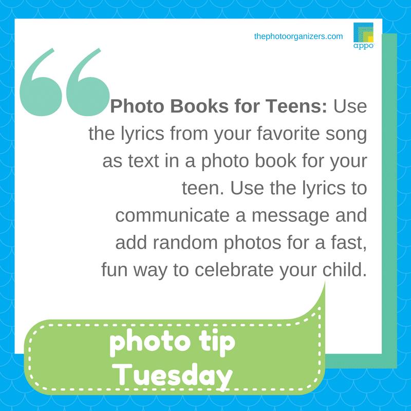 Photo Tip Tuesday - Photo Books for Teens | ThePhotoOrganizers.com