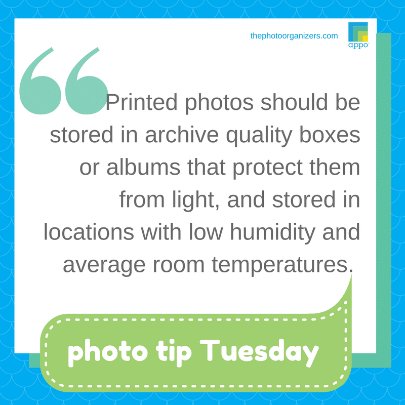 Photo Tip Tuesday: Store print photos in safe boxes | ThePhotoOrganizers.com