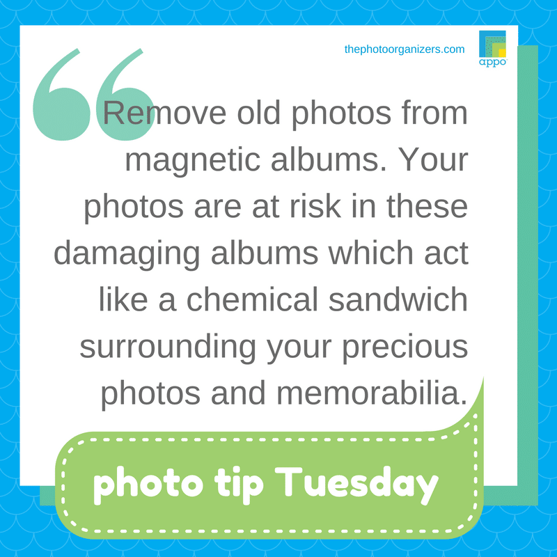 Photo Tip Tuesday: Remove photos from magnetic albums. | ThePhotoOrganizers.com