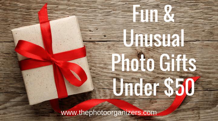 Fun & Unusual Photo Gifts Under $50 | ThePhotoOrganizers.com