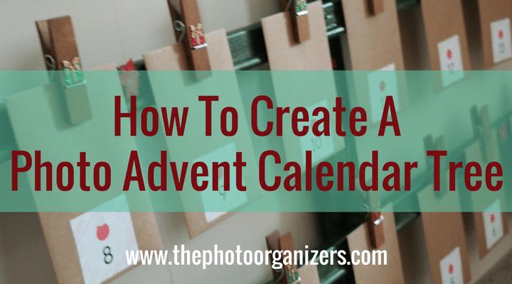 How to Create a Photo Advent Calendar Tree | ThePhotoOrganizers.com