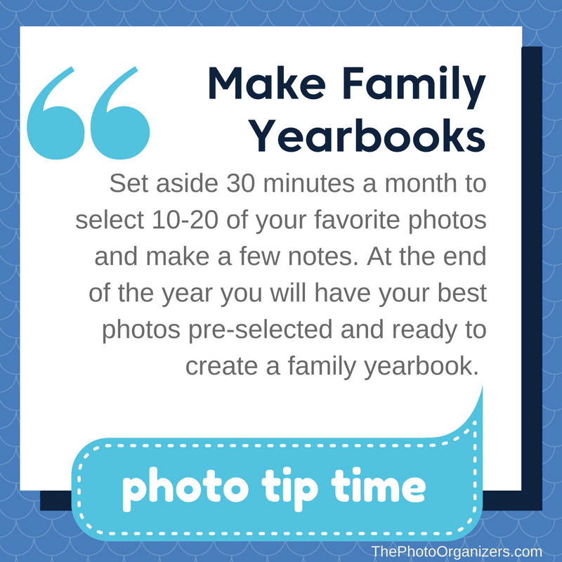 Photo Tip Tuesday: Make Family Yearbooks | ThePhotoOrganizers.com