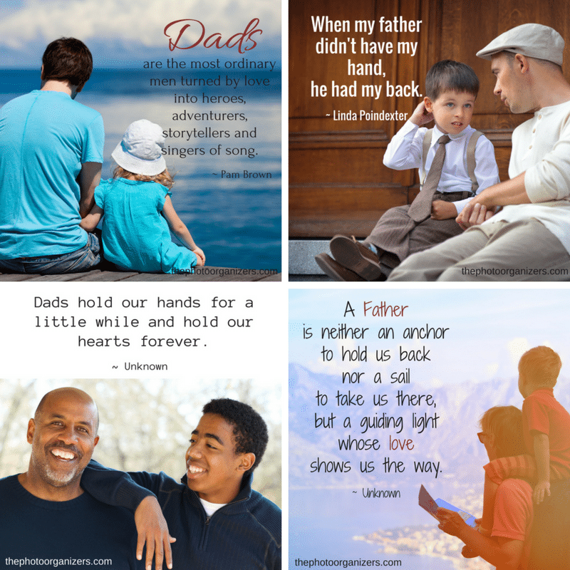 Quotes about Dads and Fatherhood | ThePhotoOrganizers.com