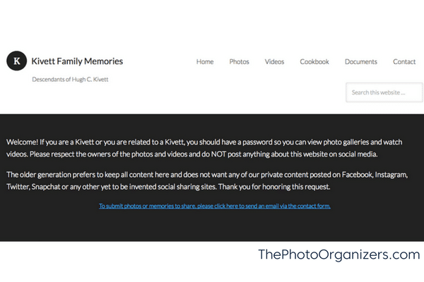 Sharing Family Photos: Is A Private Family Website Your Answer? | ThePhotoOrganizers.com