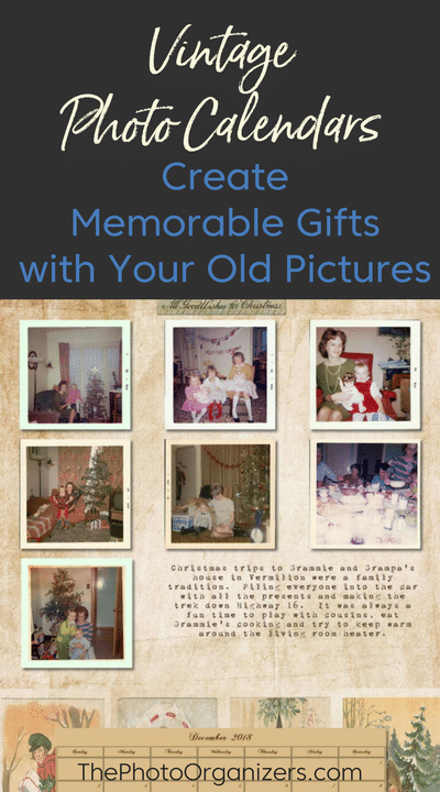 Vintage Photo Calendars: Create Memorable Gifts with Your Old Pictures | ThePhotoOrganizers.com