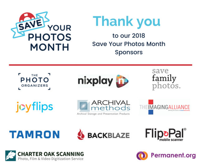 Thank you to our Save Your Photos Month Sponsors!