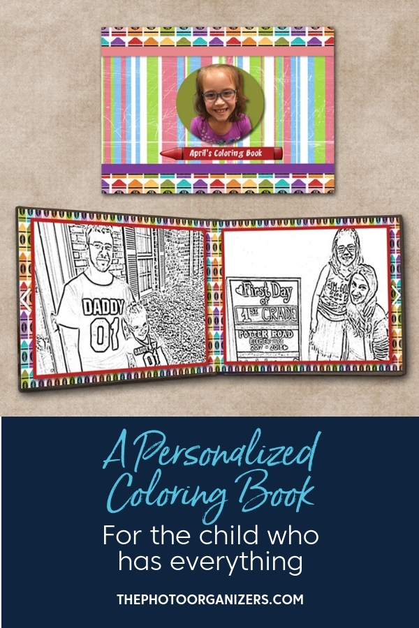 A Personalized Coloring Book For the Child Who Has Everything | ThePhotoOrganizers.com